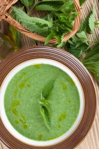 Krémová polévka z kopřiv